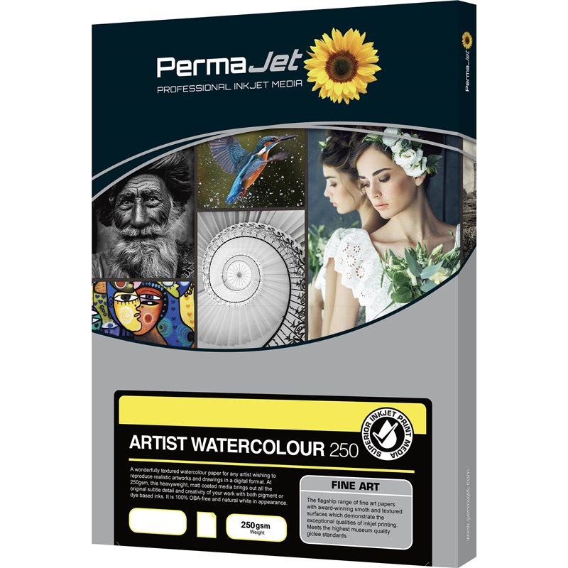 PERMAJET ARTIST WATERCOLOUR 250 GR. A2/25 FG.